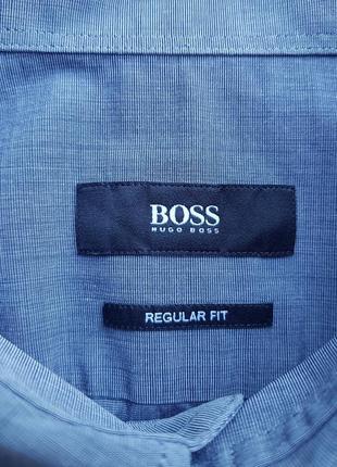 Брендовая топовая темно-серая базовая рубашка hugo boss m