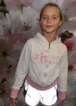 Кофта на молнии для девочки 10 -12 лет