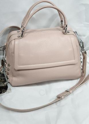 Женская кожаная сумка polina & eiterou саквояж