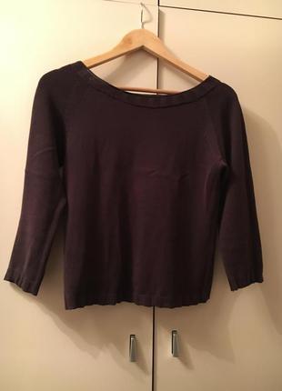 Коричневая кофта джемпер зара 100% хлопок свитер