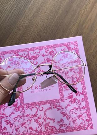 2021 очки золотистые стильные прозрачные очки круглые