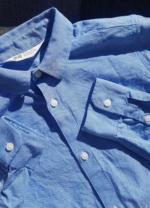 Брендовая базовая рубашка под джинс h&m