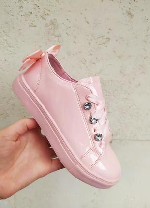 25-36 р пудровые розовые белые туфли школьные слипоны кеды на девочку