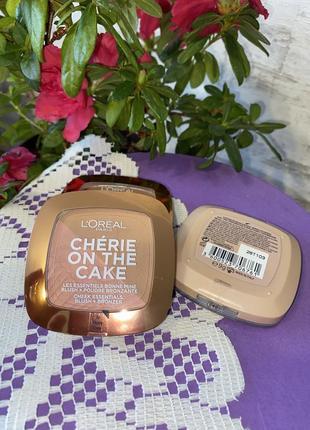 Бронзер-румяна для лица l'oreal cherie on the cake