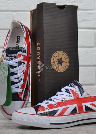 Кеды converse all star chuck taylor union с британским флагом