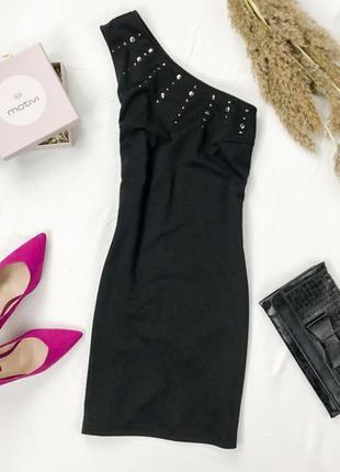 Маленькое черное платьице на одно плечо  dr 1945155  fashion union