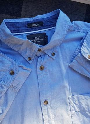 Брендовая топовая базовая джинсовая рубашка h&m xl