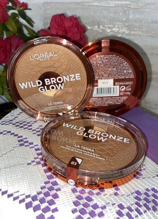 Бронзатор и контурная пудра wild bronze glow от l'oréal