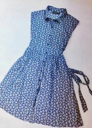 Брендовое хлопковое платье халат в стиле ретро винтаж бренда sugarhill boutique р l
