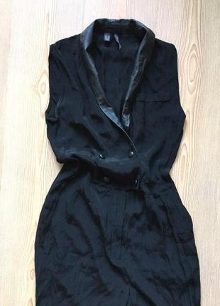 Чорний класичний комбінезон без рукавів з штанами mango suit