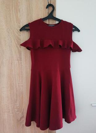 Платье колокольчик кукольное рюши солнцеклеш dill