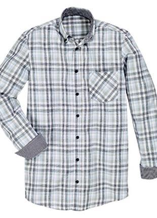 Хлопок клетчатая рубашка м 39/40 и l 41/42 watsons германия