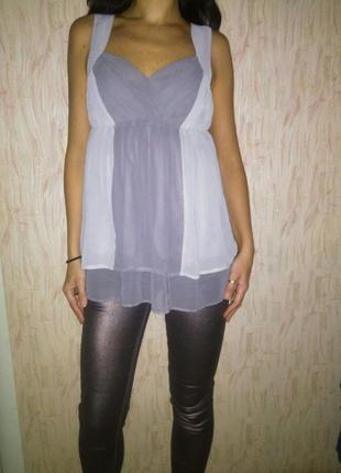 Роскошная блузка шифоновая майка топ