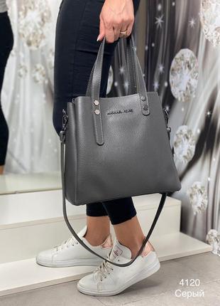 Новая женская сумка серого цвета