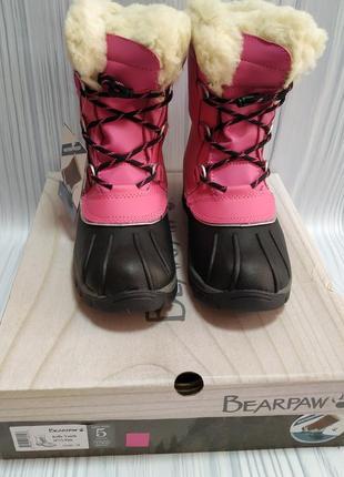 Сапоги зимние bearpaw стелька 24 см кожа, шерсть