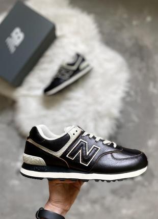 Оригинал! кожаные мужские кроссовки new balance 574 leather из сша