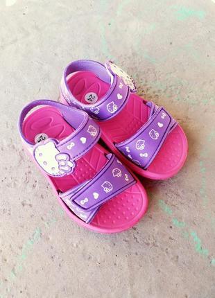 Сандалии босоножки на липучках для девочек