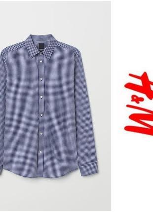 Рубашка в синюю клетку с рукавом