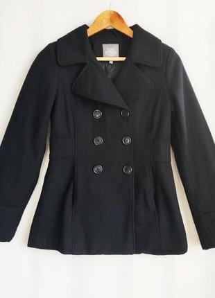 Пальто полупальто деми черное lindex