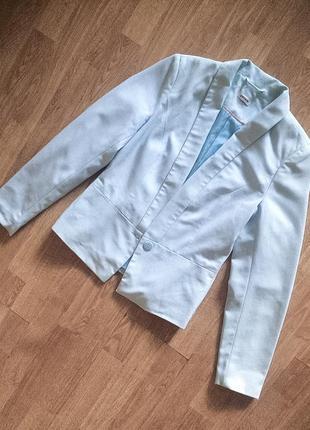Голубой пиджак жакет pimkie
