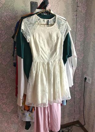 Коктейльное/ свадебное платье от h&m
