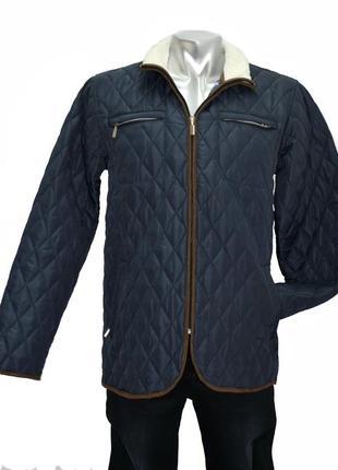 Стеганная демисезонная мужская куртка  centleman. код 3000