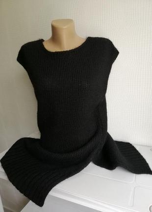 Шерстяная, итальянская кофта жилет hallhuber шерсть, альпака, италия,размер  xs, s