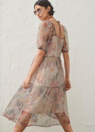 Нежное платье сетка воздушное летящее h&m
