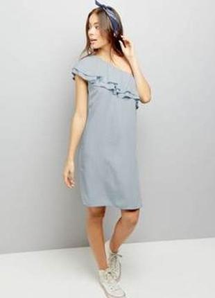 Новое платье из облегченного денима на одно плечо new look р14