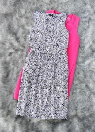 Платье с отрезной талией из натуральной вискозы m&co