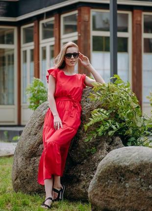 Нежное котоновое платье 48-52 р.