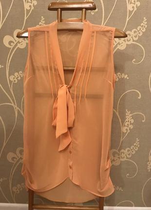 Очень красивая и стильная брендовая блузка оранжевого цвета 19.