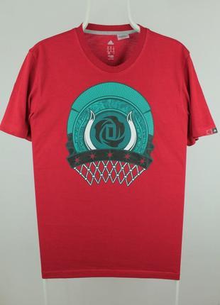 Крутая оригинальная футболка adidas rose badge chicago bulls