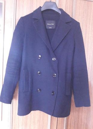 Шикарне брендове укорочене  пальто із вовни