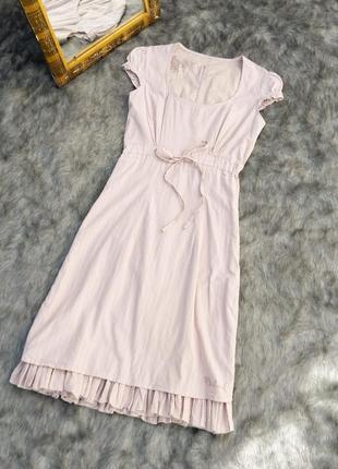 Хлопковое платье а силуэта