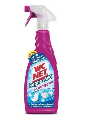 Wc net con candeggina для чистки ванной комнаты