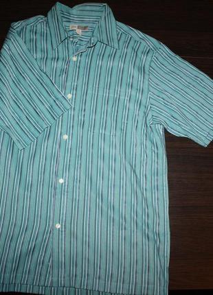 Рубашка в полоску мужская l