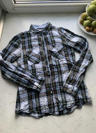 Стильная рубашка в клетку zara размер - xs-s