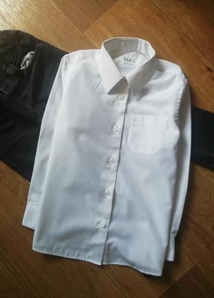 Белая рубашка с карманом, сорочка, рубаха