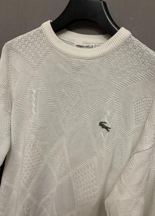Lacoste свитер свитшот винтаж оверсайз