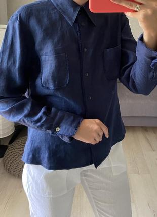 Льняная рубашка неви eb company
