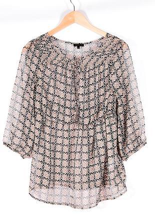 Прозрачная блузка шифоновая