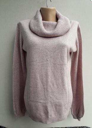 Тёплый меланжевый натуральный свитер