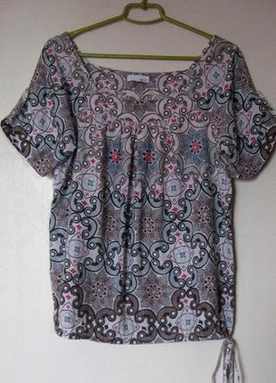 Блуза летняя хб пестрая на завязке
