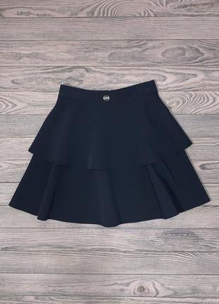 Нарядная синяя юбка для девочки 9-12 лет.