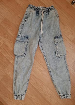 Джогери,брюки на манжетах,демін,штани