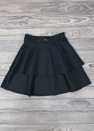 Нарядная черная юбка для девочки 6-12 лет.