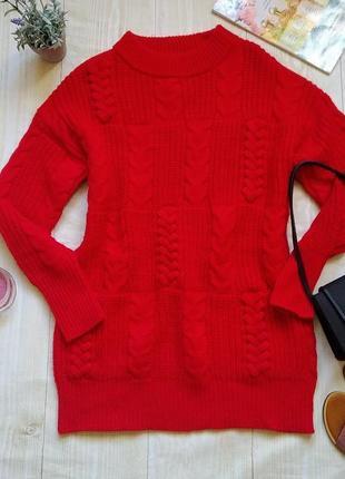 Удлиненный свитер туника платье реглан