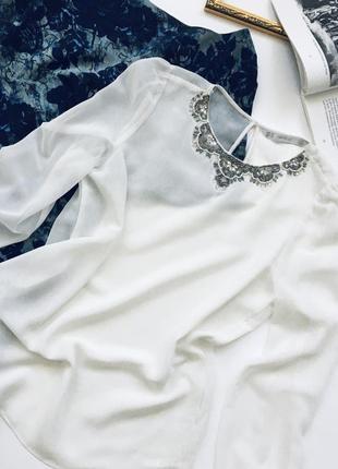 Красивая шифоновая блуза zara