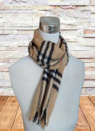 🦄🦄100% шерсть теплый шарф в клетку унисекс 🦄🦄🦄